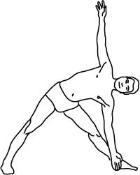 trikonasana (Dreieckstellung)