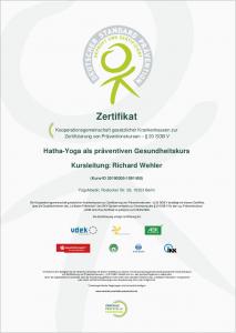Zertifikat Wehler Prävention ZPP