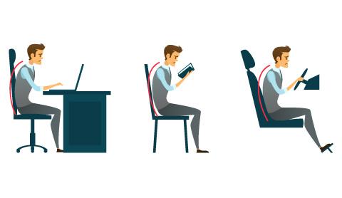 Das Büro-Syndrom. Zu viel Sitzen macht krank.